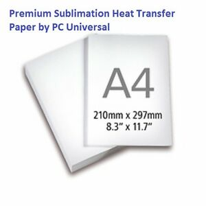 1 000 Sheets A4 Premium Quality Sublimation Paper Heat Transfer Paper 10 Packs