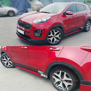 C Factory Side Skirts For Kia Sportage Ql 2017