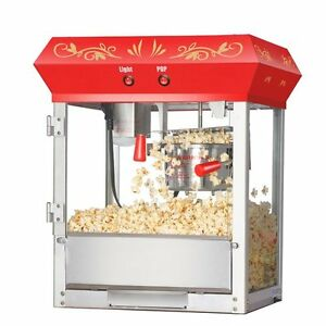 Great Northern Popcorn Red Foundation Top Popcorn Popper Machine 4 Ounce