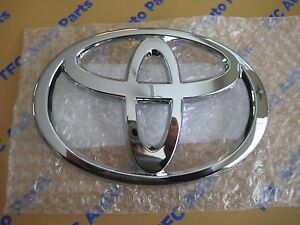 Toyota Rav4 Chrome Front Grille Emblem Badge Genuine Oem New 2003 2005 Rav4