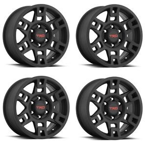 2007 2014 Fj Cruiser 2010 2019 Toyota 4runner Black Trd Pro 17 Wheels Set Of 4