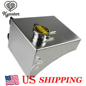 Aluminum Radiator Coolant Overflow Tank Can For Nissan 240sx S13 Polished New