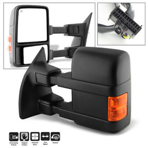 2008 2016 Ford F250 F350 F450 Superduty Led Towing Side View Mirror Left Driver
