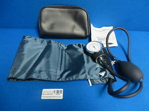 Aneroid Sphygmomanometer With Cuff 1 Count Navy Blue cuff 90 Day Warranty