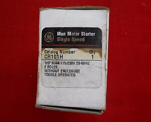 Ge Cr101h Motor Starter 2 pole Toggle Switch