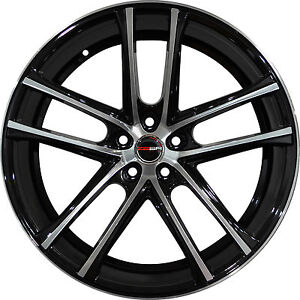 Set Of 4 Gwg Wheels 20 Inch Staggered Black Machined Zero Rims 5x115 Et20 25