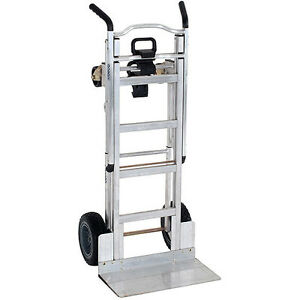 Cosco 3 in 1 Aluminum Hand Truck assisted Hand Truck cart With Flat free Wheels