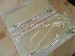Toyota Pickup Truck Sunvisor Tan Beige Lh Rh Set New Genuine Oem Parts 1979 1983