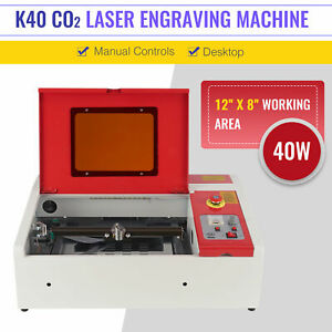 40w Co2 Usb Laser Engraving Cutting Machine Engraver Cutter Chiller 300 X 200mm