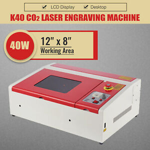 Omtech 40w Co2 Laser Cutter Engraver 12x8in K40 Laser Cutting Engraving Machine