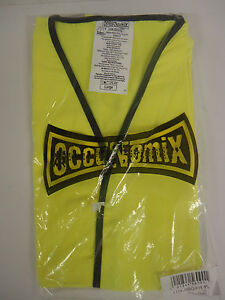Occunomix Occulux Lux ssg fr yl Flame Resistant Class 2 Hi vis Safety Vest Large