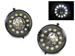 12 Cree Led Fog Light Drl Daytime Running Park 07 13 Mini Cooper R56 R57 R58 R59