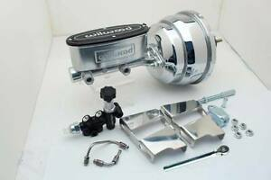 1960 66 Chevy Truck Chrome 8 Power Brake Booster Wilwood Master Cylinder Kit