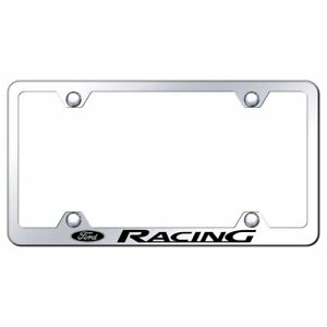 Ford Racing Mirroed Chrome Stainless Steel License Plate Frame