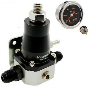 K Motor Universal Fuel Pressure Regulator Kit Gauge An6 Fitting 30 70 Psi