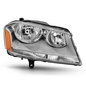 2008 2014 Dodge Avenger passenger Side Chrome Housing Head Light Lamp Right