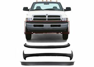 Replacement Front Bumper Combo For 1994 2001 Dodge Ram 1500 2500 3500 Brand New