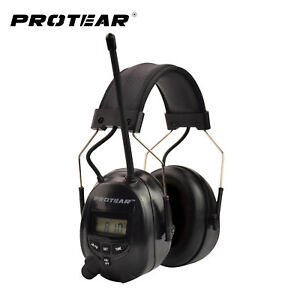 Hearing Protector Mp3 Am Fm Radio Earmuff Electronic Work Safety Noise Reduction