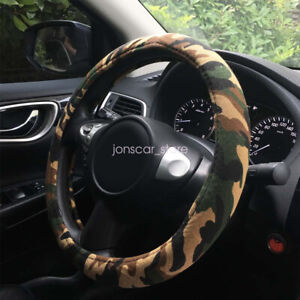 Automotive Interior Camo Fabric Wrap Camouflage Car Steering Wheel Cover 15