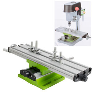 Us Milling Machine Compound Work Table Cross Slide Bench Drill Press Vise Device