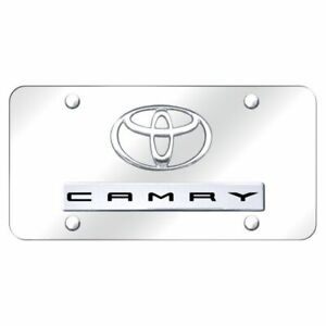 Toyota Camry Logo On Chrome Stainless Steel Standard Novelty Front License Plate