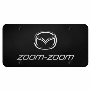 Mazda Zoom Zoom Laser Etched On Black Standard Novelty Front License Plate