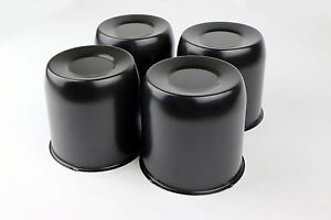 4 Black Steel Center Cap 4 1 4 4 25 Center Bore Center Caps