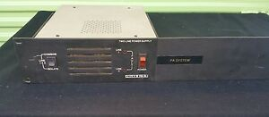 Telex Ps 2l 2 Channel Power Supply