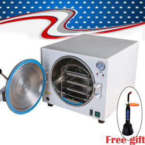 18l Dental Medical Autoclave Steam Pressure Sterilizer For Lab Machine free Gift