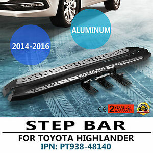 2014 2017 Toyota Highlander Premium Aluminum Running Board Side Step Nerf Bar4x4