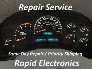 Chevrolet Silverado 2003 2006 Instrument Gauge Cluster Repair includes Duramax
