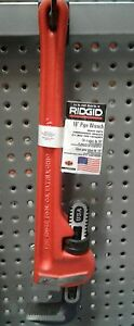 New Ridgid 31025 Model Heavy duty Straight Pipe Wrench 18 Plumbing Wrench Cast