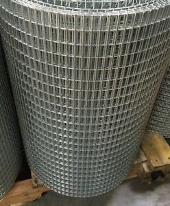 Lot Of Two 5x1 14g 24 x100 Galvanized Welded Wire Mesh Rolls gaw