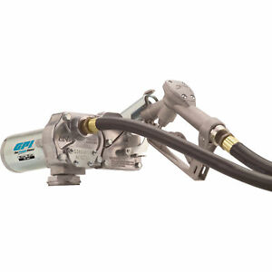 Refurbished Gpi 12v Dc 15 gpm Automatic Fuel Transfer Pump With Manual Nozzle