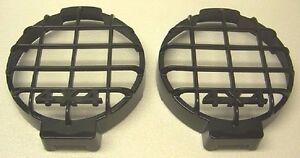 2 New 4x4 Truck Off Road Jeep Grille Rock Guards Covers Driving Lights Fog Lamps
