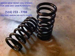 46 47 48 49 Plymouth P15 Special Deluxe Front Brand New Coil Springs Mopar