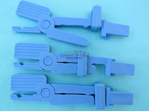 3 Dental Intraoral Snap Type Digital Sensor Holder Clip Plastic Blue Autoclavabl