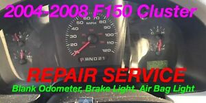 Repair 2004 Ford F 150 Instrument Gauge Cluster Odometer Brake Airbag Light