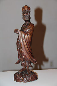 Very Beautiful And Old Chinese Wooden Hand Carved Buddha Statue