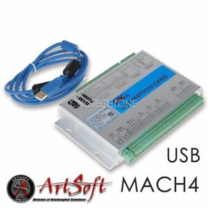 Usb 2mhz Mach4 Cnc 3 Axis Motion Control Card Breakout Board For Machine Centre