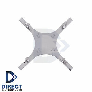 Dental Star Guage Orthodontic Bracket Positioning Accurate Placement Posterior
