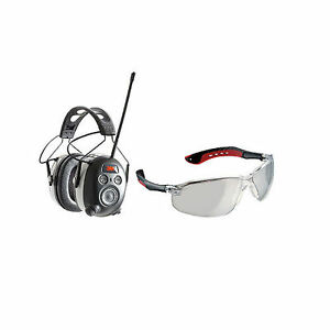 Worktunes Bluetooth Hearing Protector And Safety Eye Wear By 3m Brand New