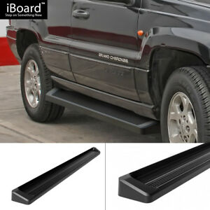 6 Black Iboard Running Boards Fit 99 04 Jeep Grand Cherokee