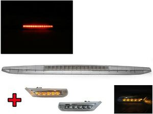 Clear 3rd Led Tail Stop Brake Light Side Marker For 97 04 Porsche Boxster 986