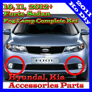 Genuine Oem Fog Lamp Light Complete Kit For 09 2010 2011 Kia Forte Cerato Sedan