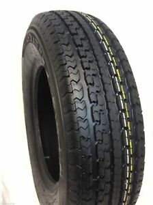 Set Of 4 New St205 75r15 Radial Trailer Tires 8 Ply 205 75 15 Heavy Duty