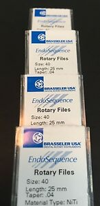 1 Pack Of Brasseler Endosequence Rotary Files 40 Taper 04 25mm