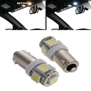 2x For Interior Front Dome Map Reading Led Xenon Led 5 Smd T11 Ba9s White Bulb