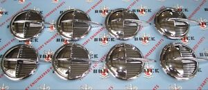 1951 1952 Buick Roadmaster Front Fender Portholes Set Of 8 Die Cast Chrome