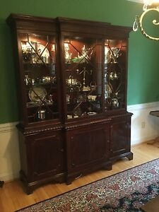 Baker Furniture China Cabinet Breakfront